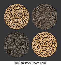 Vector celtic circle cross. Ethnic ornament Geometric design