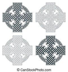 Vector celtic cross. Ethnic ornament Geometric design T-shirt pr