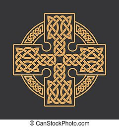 Vector celtic cross. Ethnic ornament. T-shirt print.