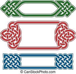 Vector celtic frame set