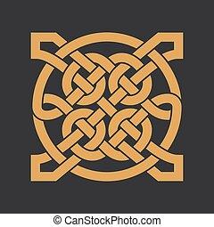Vector celtic knot. Ethnic ornament. Geometric design.