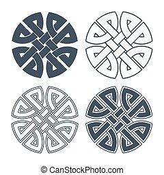 Vector celtic knot. Ethnic ornament. Geometric design