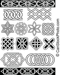 Vector celtic knots - Set - vector celtic patterns. Isolated...