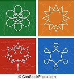 Vector Celtic season symbols