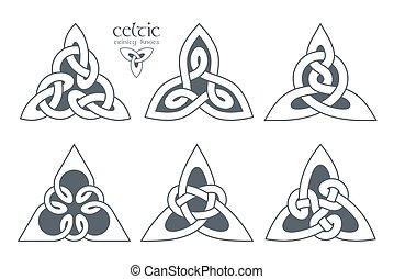 Vector celtic trinity knot part 1. Ethnic ornament. Geometric de