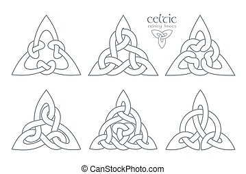 Vector celtic trinity knot  part 2. Ethnic ornament. Geometric d