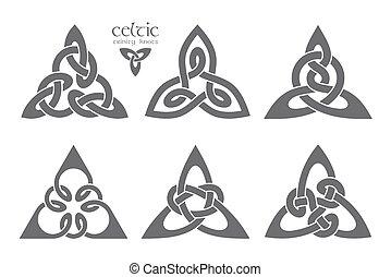 Vector celtic trinity knot part 2. Ethnic ornament. Geometric de