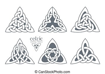 Vector celtic trinity knot part 3. Ethnic ornament. Geometric design