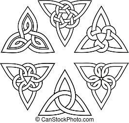 celtic trinity knot set - vector celtic trinity knot set,...