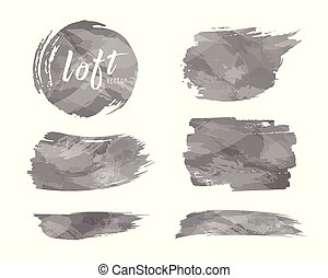 Vector Cement loft style brush design isolated on white background