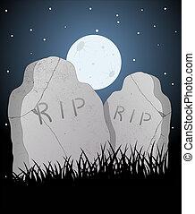 vector, cementerio