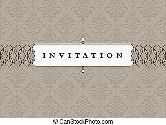 Vector Centered Frame and Background