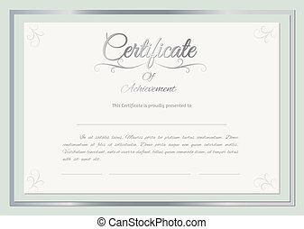 vector, certificado, plano de fondo
