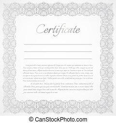 Vector certificate background