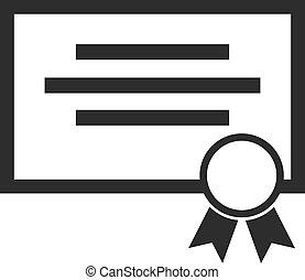 Vector Certificate Black Icon