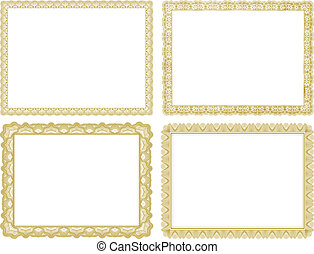 Vector Certificate Borders Set - Set of vector certificate...