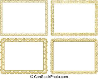 Vector Certificate Borders Set