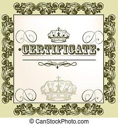 Certificate vector border frame design certificate vector vector certificate design yadclub Choice Image