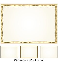Vector Certificate Frame Set - Set of highly detailed vector...