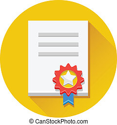 Vector Certificate Icon