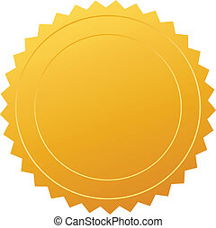 Vector certificate seal illustration