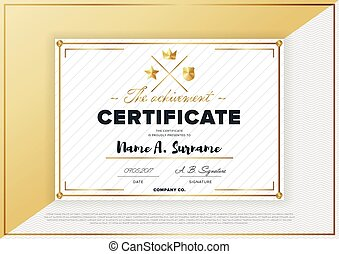 Vector Certificate Template  Certificate Layout