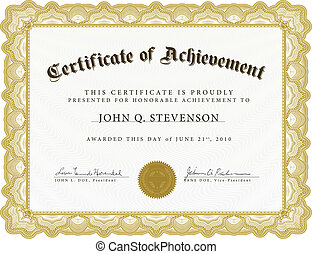 Vector Certificate with Heavy Border - Vector certificate. ...