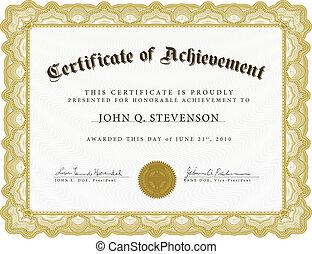 Vector Certificate with Heavy Border - Vector certificate....