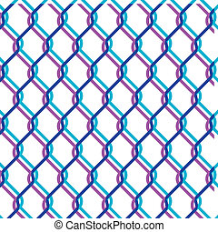 vector chain link fence texture on white backgound