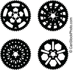 Vector chainrings pack - Vector pack of bike chainrings and...