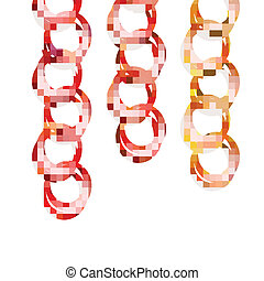 Vector chains in three colors