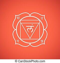 vector chakra Muladhara symbol illustration