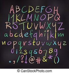 Vector Chalk Alphabet