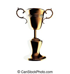 vector Champion trophy cup
