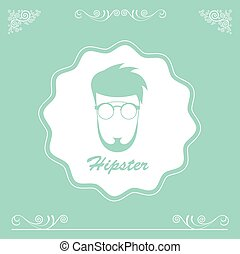 character cartoon hipster style