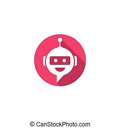 vector, charla, bot, símbolo, logotipo, icono