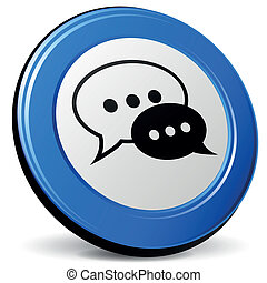Vector chat 3d icon