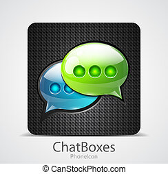 Vector chat boxes phone icon - Vector illustration for your...