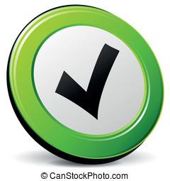Vector check 3d icon