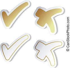 Vector check mark stickers