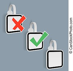 Vector Check Mark Yes/NO Stickers