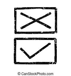 Vector check marks.