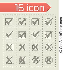 Vector Check marks icon set