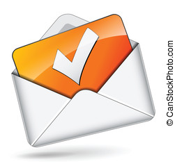 Vector checkmark mail concept