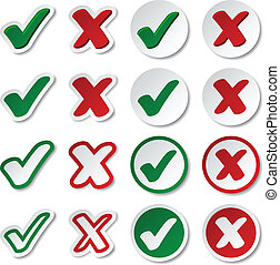vector checkmark stickers