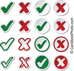 vector checkmark stickers