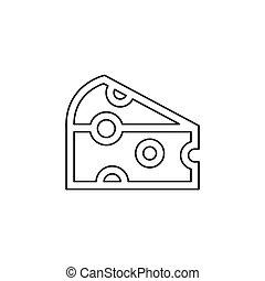 vector cheddar cheese illustration