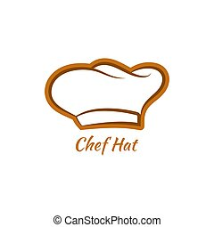 Vector chef hat. Baker cap isolated on white background