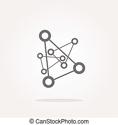 vector chemistry icon (button) isolated on white background
