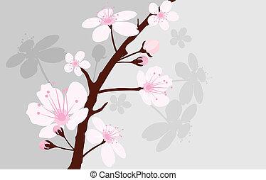 vector cherry branch